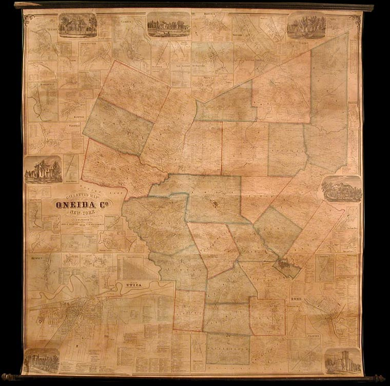 Gillette's Map of Oneida Co. New York from actual surveys under the direction of J. H. French. S. N. BEERS, D. J. Lake, F. W. Beers.