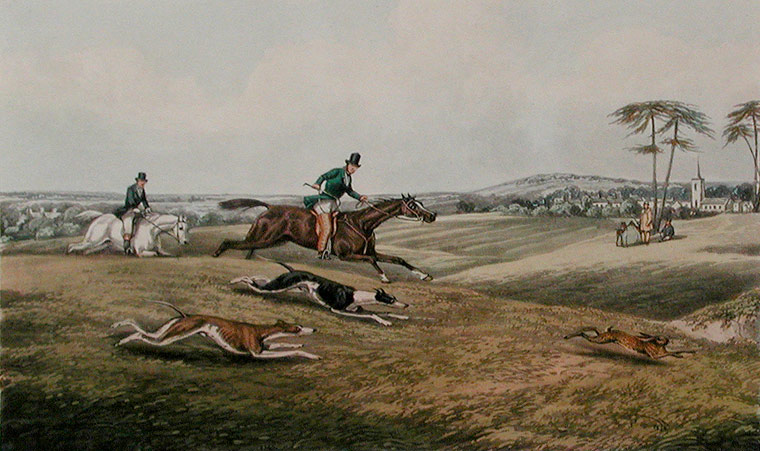 Fores's Sporting Scraps. Plate 6. Coursing. After Henry Thomas ALKEN.