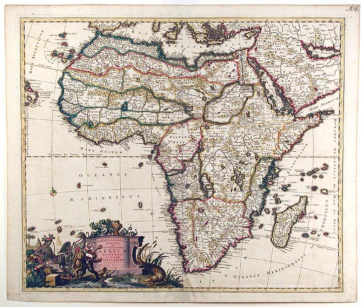[The World and Continents - Five Maps]. Carel ALLARD.
