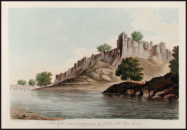 A View of the Fort of Lionpoor upon the Banks of the River Goomty. William HODGES.