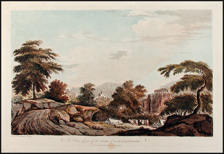A View of part of the Fort of Lutteefpoor. William HODGES.
