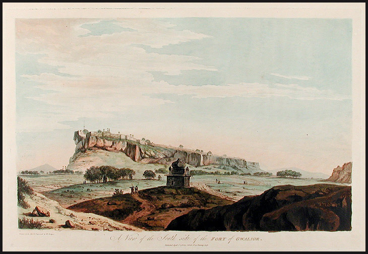 A View of the South side of the Fort of Gwalior. William HODGES.