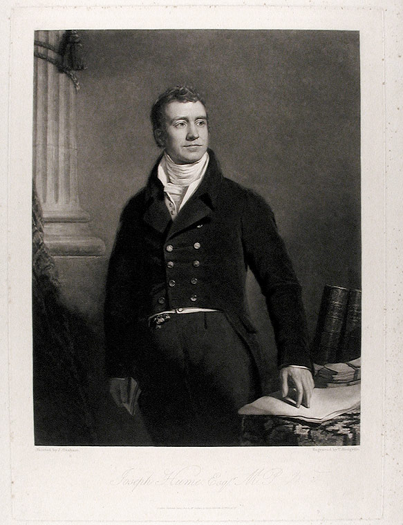 Joseph Hume, Esq. M.P. Thomas after James GRAHAM HODGETTS, active, GILBERT.