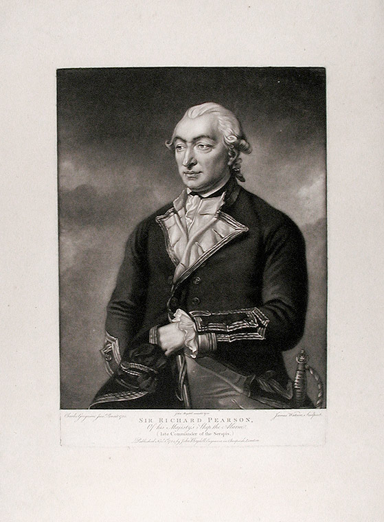 Sir Richard Pearson. James after Charles GRIGNION WATSON, c. 1740- 1790.