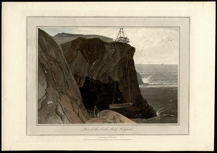 Part of the South Stack, Holyhead. William DANIELL.