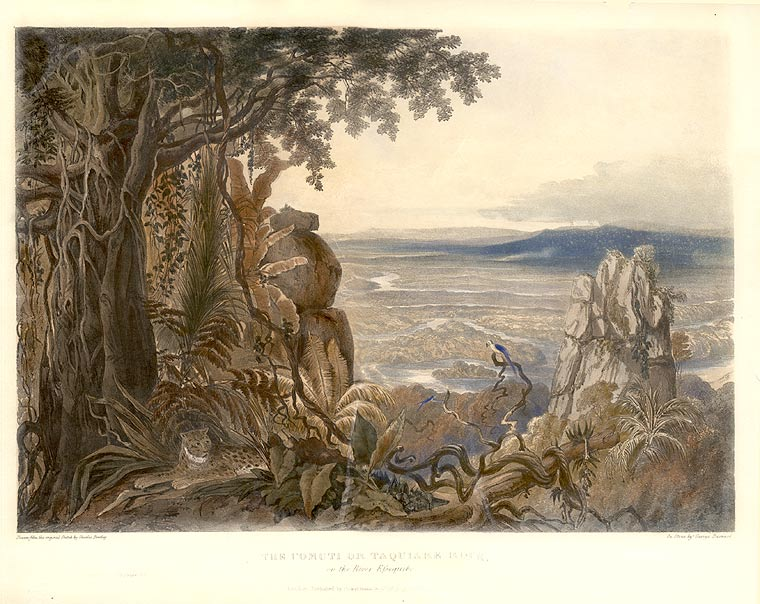The Comuti or Taqulare Rock, on the River Efsequibo. Sir Robert Herman SCHOMBURGK.