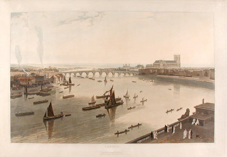 London [Westminster Bridge and Abbey]. William DANIELL.