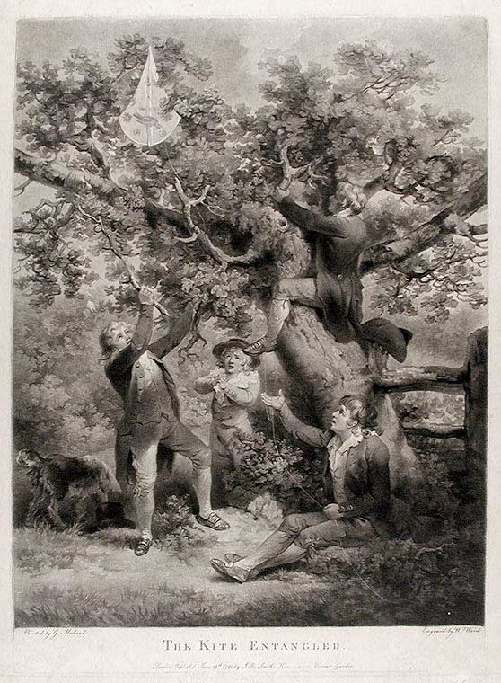 The Kite Entangled. William after George MORLAND WARD.