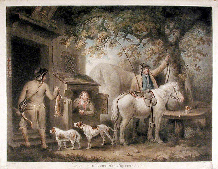 The Sportsman's Return. William WARD, after George MORLAND.