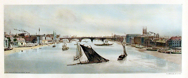 London Bridge From Southwark Bridge. Thomas SHOTTER BOYS.