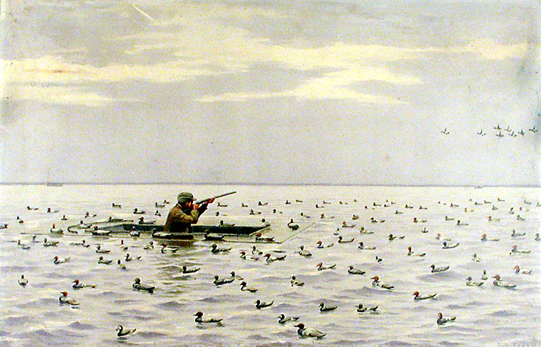 Duck Shooting from a Battery. Arthur Burdett FROST.
