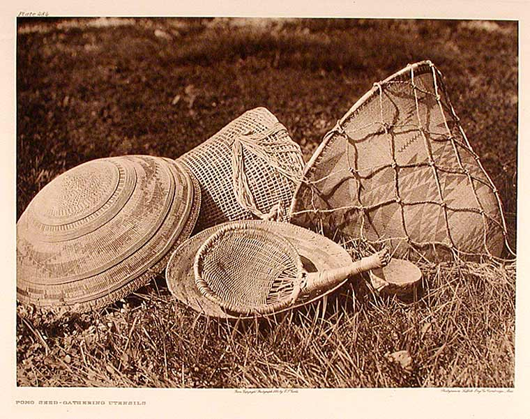 Pomo Seed-Gathering Utensils. Edward Sheriff CURTIS.