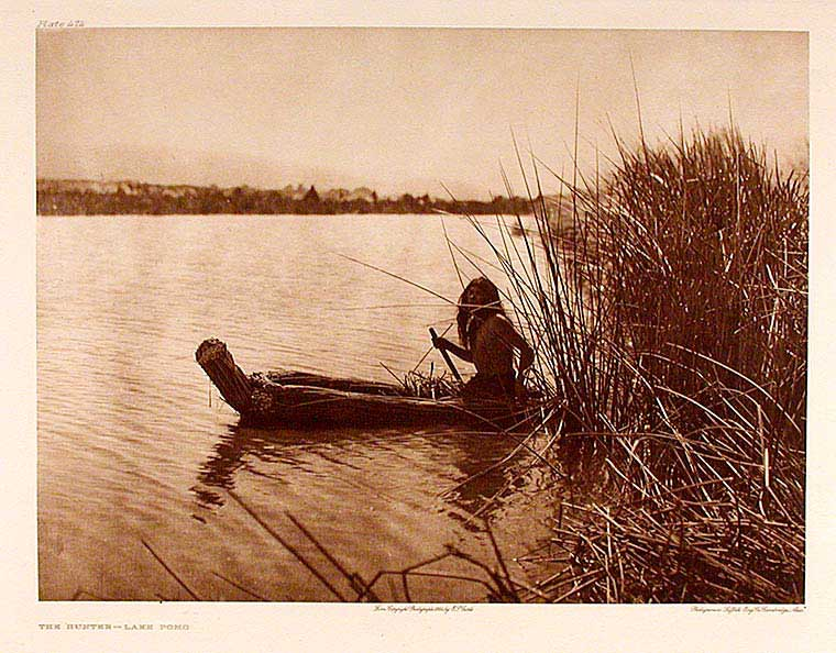 The Hunter - Lake Pomo. Edward Sheriff CURTIS.