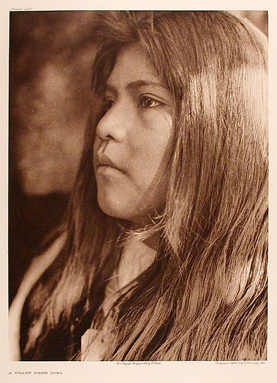 A Coast Pomo Girl. Edward Sheriff CURTIS.