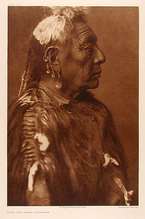 Wolf Lies Down - Apsaroke. Edward Sheriff CURTIS.