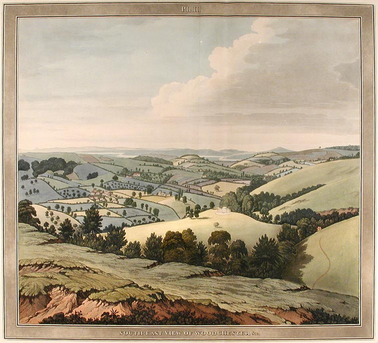 South-East View of Woodchester. Samuel LYSONS.
