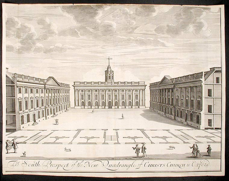 """A Pair: """"The North Prospect of the New Quadrangle of Christs Church in Oxford""""; """"The South Prospect of the New Quadrangle of Christs Church in Oxford"""" William WILLIAMS."""