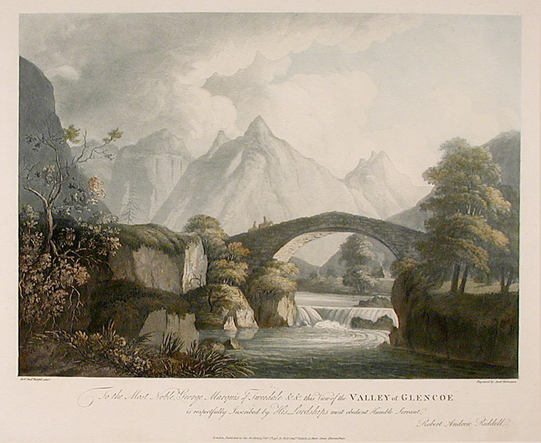 Valley of Glencoe. Archibald ROBERTSON, after Robert Andrew RIDDELL.