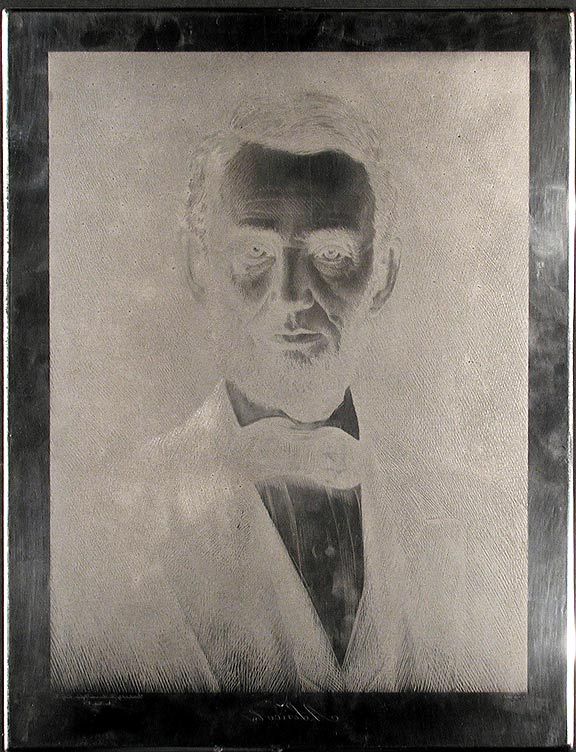 Portrait of Abraham Lincoln. After Elijah Chapman MIDDLETON.