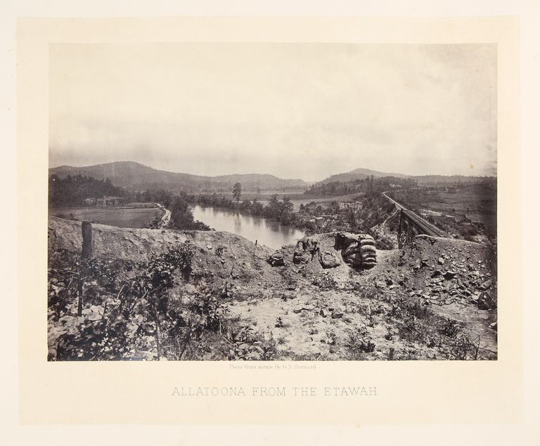 Allatoona from the Etawah. George N. BARNARD.