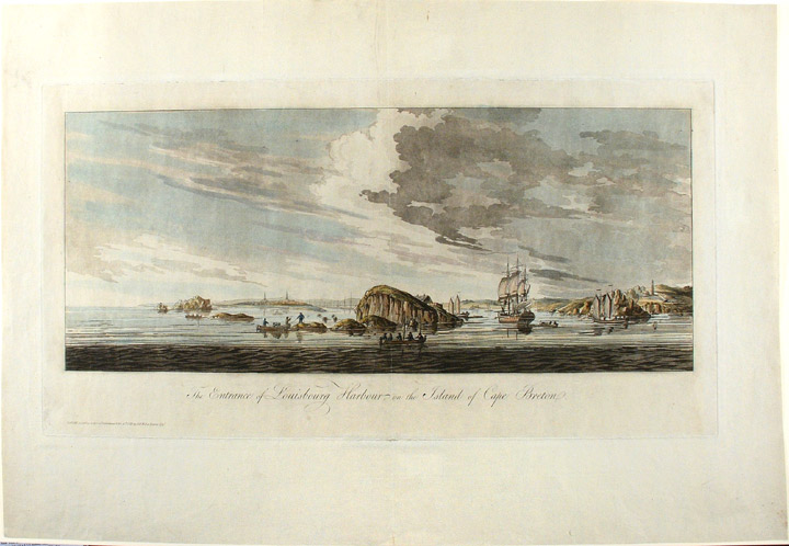 The Entrance of Louisbourg Harbour, on the Island of Cape Breton. J. F. W. DES BARRES.