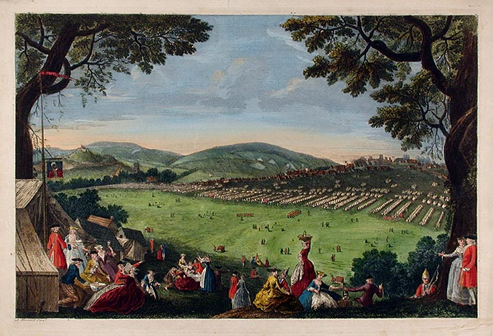 View of the Camp in the Isle of Wight. Augustin MENAGEOT.