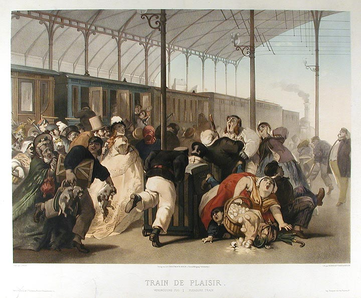 Train de Plaisir / Pleasure Train. Philippe Jacques LINDER, BETTANIER REGNIER, MORLON, 1835-?, lithographers.