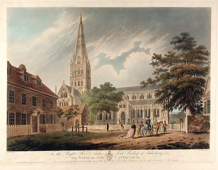 View of the Cathedral. Francis JUKES, after Edward DAYES.