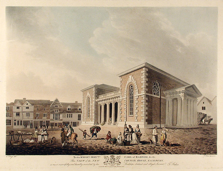 View of the New Council House, Salisbury. Francis JUKES, after Edward DAYES.