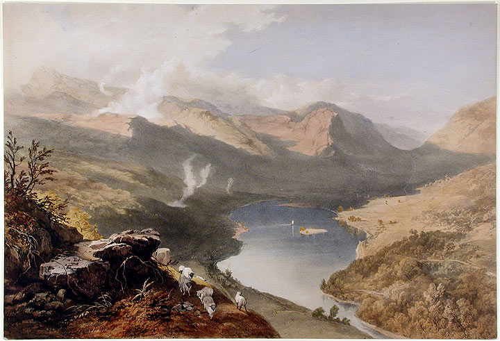Grassmere from Loughrigg Fell. James Baker PYNE, W. GAUCI.