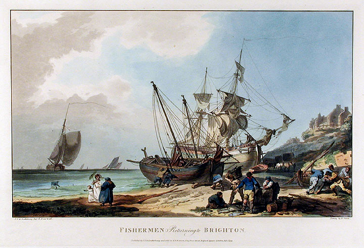 Fishermen Returning to Brighton. B. after Philippe Jacques LOUTHERBOURG COMTE.