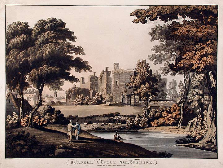 Burnell Castle Shropshire. ANONYMOUS.