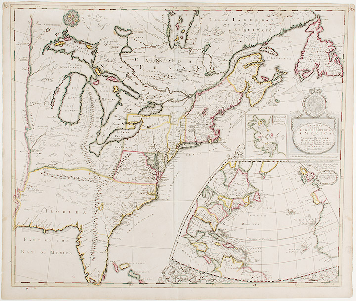A New Map of the English Empire in America Viz Virginia Maryland