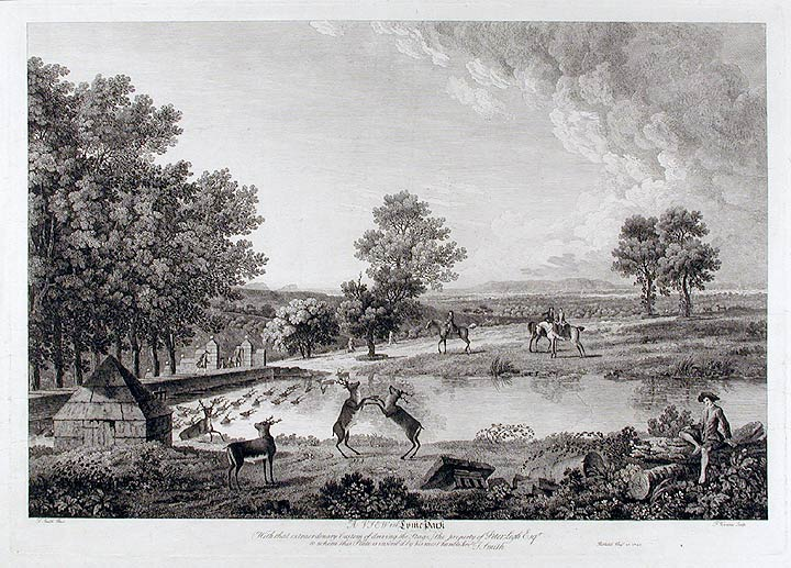 A View in Lyme Park (With that extraordinary Custom of driving the Stags;) the property of Peter Legh Esqr. Thomas SMITH of Derby, Francis VIVARES, c.1720 - 1767.