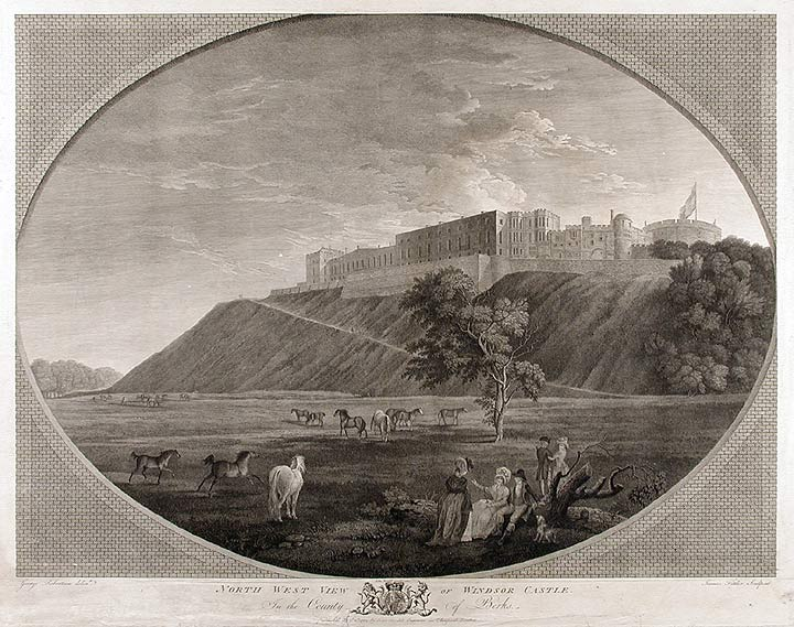 North West View of Windsor Castle, In the County of Berks. James FITTLER, after George ROBERTSON.