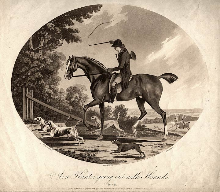 As a Hunter going out with Hounds. Francis JUKES, after Charles ANSELL, b. 1752.