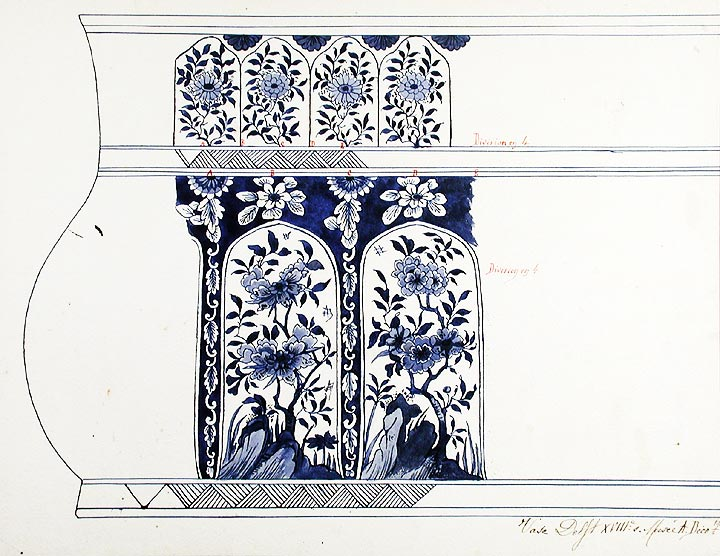 An original design for a porcelain Delft vase. SAMSON, CO, designers.
