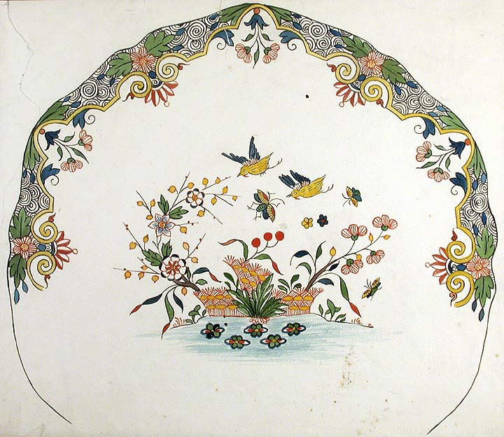 An original design for a porcelain plate. SAMSON, CO, designers.