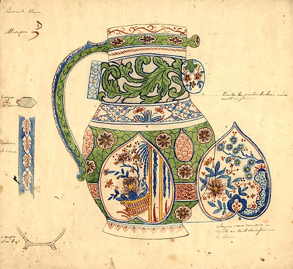 An original design for a porcelain pitcher. SAMSON, CO, designers.