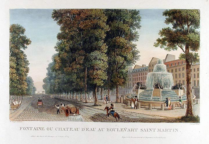 Fontaine ou Chateau d'Eau au Boulevard Saint Martin. DUBOIS after COURVOISIER.
