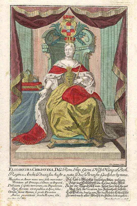 Elisabetha Christina, D. G. [Queen of Prussia, wife of Frederick the Great]. Martin ENGELBRECHT, STEUTTNER.