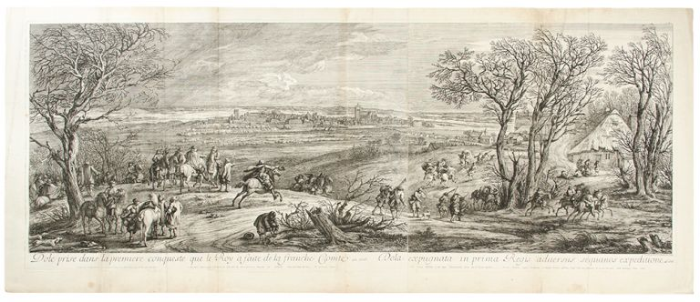 [Franche Comté] Dole prise dans la premiere conqueste que le Roy a faite de la franche Comté en 1668 [Dôle, taken in the first conquest that the King made in Franche-Comté]. After Adam Frans Van der MEULEN.