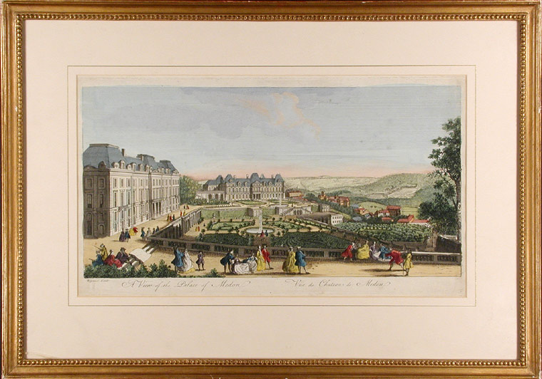 A View of the Palace of Medon / Vue du Chateau de Medon [Meudon]. Jacques RIGAUD.