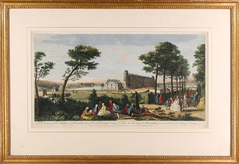 A View of the Palace of Chantilli, taken from the Principal Entrance / Vue du Chateau de Chantilli, prise du cote de la Principale Entree. Jacques RIGAUD.