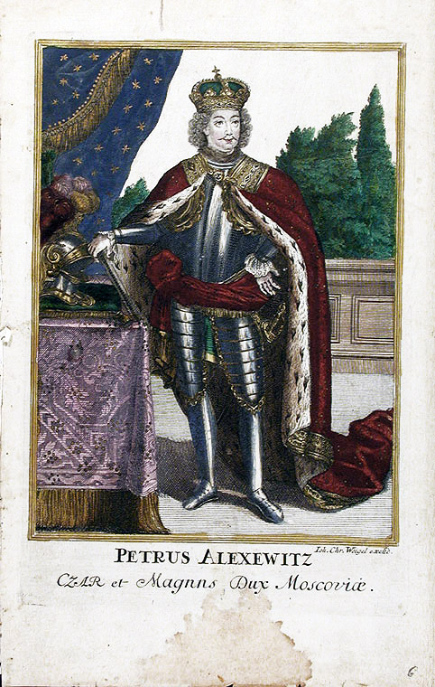 [Peter the Great] Petrus Alexewitz Czar et Magnus Dux Moscoviæ. Johann Christian WEIGEL.