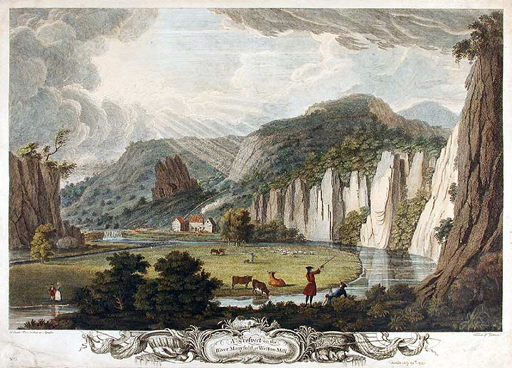 A Prospect on the River Manyfold, at Wetton-Mill. Thomas . SMITH of Derby, P. G. SCOTIN, c.