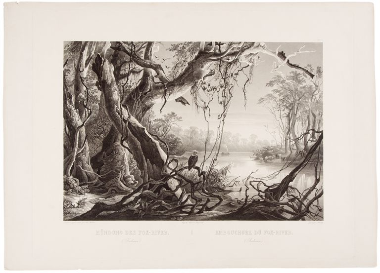 [Mouth of the Fox River (Indiana)]. Karl BODMER.