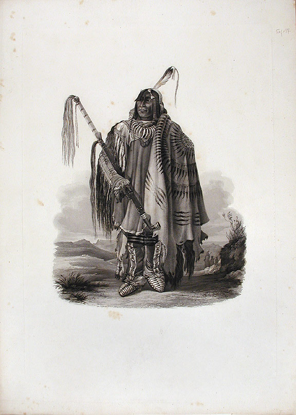[Péhriska-Rúhpa. A Minatarre or big-bellied Indian. Karl BODMER.