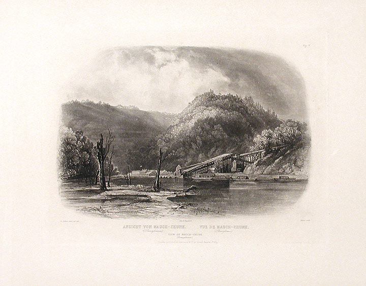 View of Mauch-Chunk (Pennsylvania). Karl BODMER.