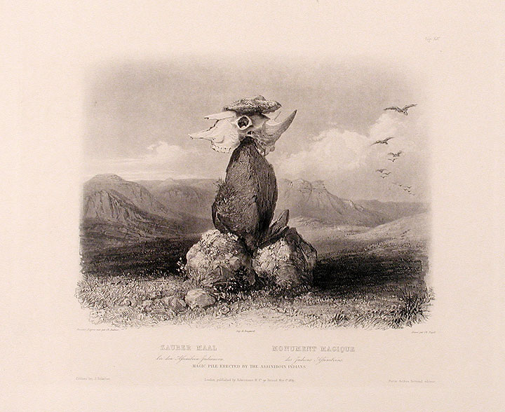 Magic Pile Erected by the Assiniboin Indians. Karl BODMER.